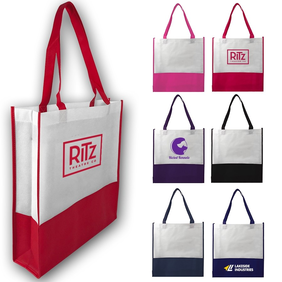 AJ337 - Contrast Tote Bag