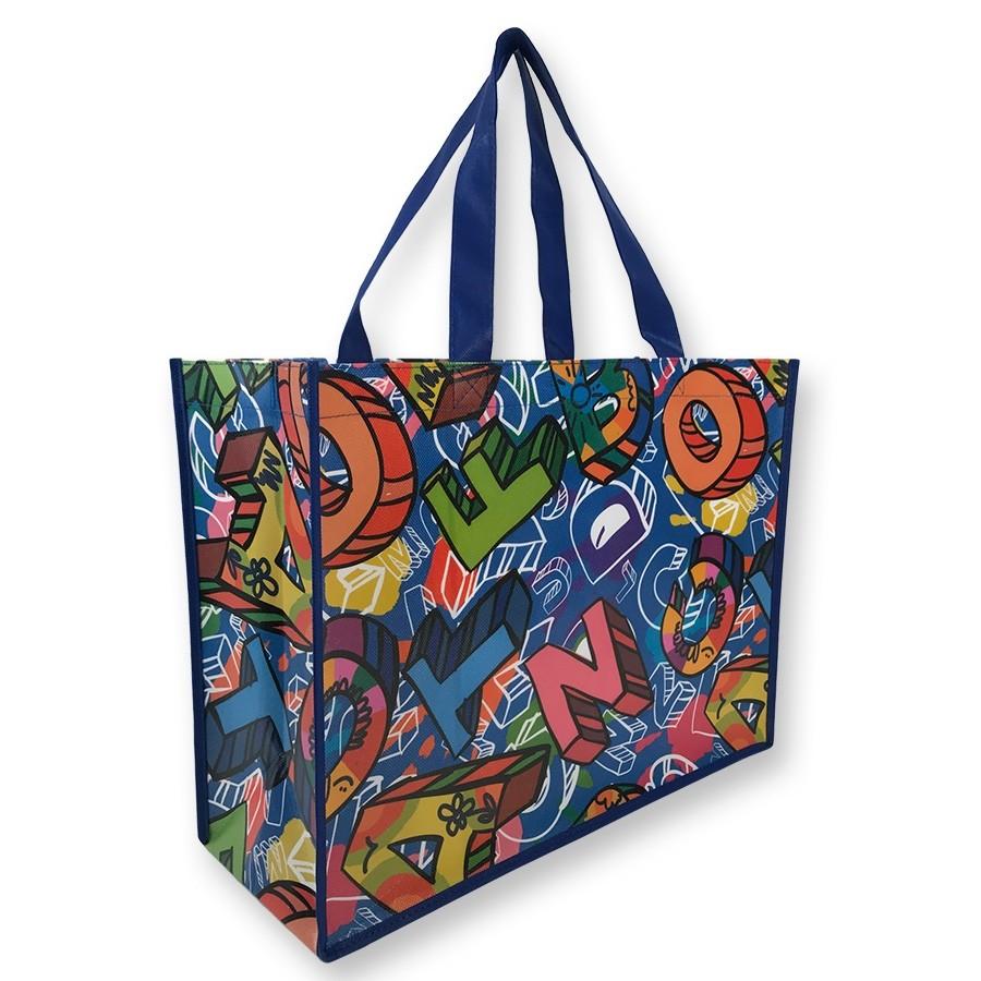 AJ357 - Full Wrap Custom Art Laminated Bag