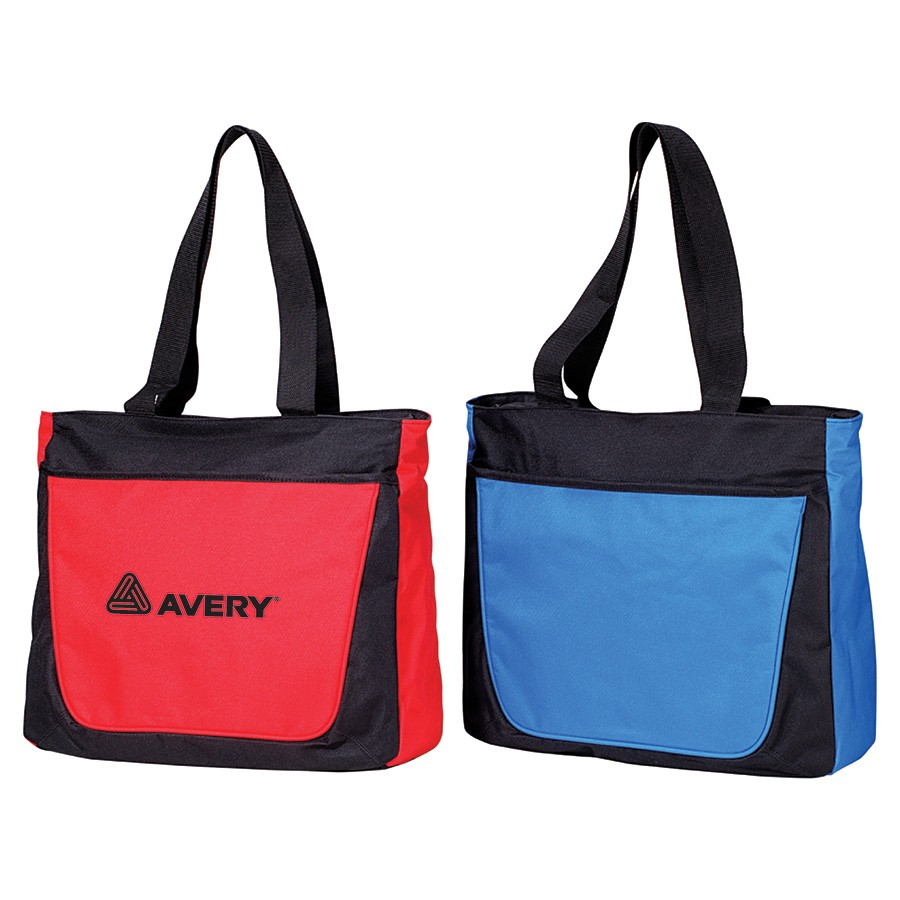 AJ634 - Large Two-Toned Tote Bag