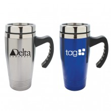 AG613 - Double Stainless Steel Travel Mug with Handle