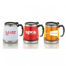 AG662 - Wide Base Stainless Steel Mug