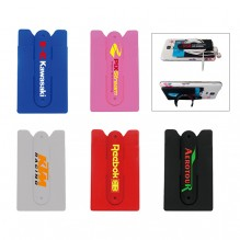 AG745 - Silicone Card Wallet with Stand