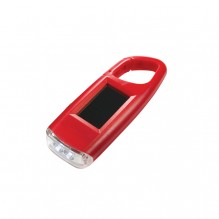 AG764 - Solar Powered Flashlight w/ Carabiner