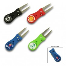 AG778 - Retractable Golf Divot Tool with Ball Marker