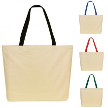 AJ266 - Two-Tone Cotton Tote Bag
