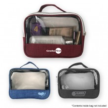 AJ351 - Crosshatched Transparent Accessory Pouch