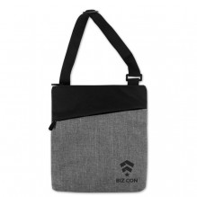 AJ366 - Crosshatched Padded Tablet Shoulder Bag