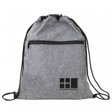 AJ367 - Crosshatched Drawstring Backpack