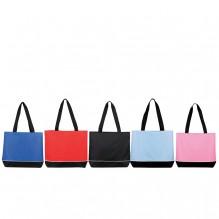 AJ613 - Zippered Shoulder Tote Bag