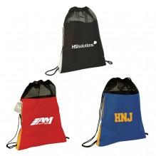 AJ633 - Drawstring Backpack with Hidden Side Pocket