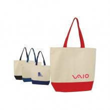 AJ645 - Two-Tone Cotton Canvas Tote Bag