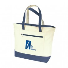 AJ737 - Classic Canvas Zippered Tote