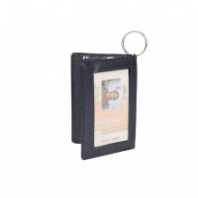 AJ842 - Leatherette Double ID Holder w/Key Ring