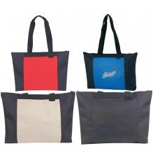 AJ853 - Poly Zippered Tote Bag