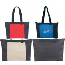 AJ853 - Poly Zippered Tote Bag