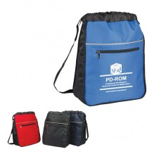 AJ863 - Expandable Drawstring Backpack