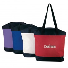 AJ891 - Zippered Shopping Tote Bag