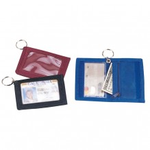 AJ898 - Double ID Holder with Key Ring