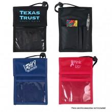 AJ944 - Badge Holder with Velcro Pocket and Pen Holder