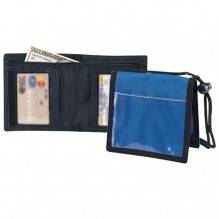 AJ959BT - Bi-Fold Neck Wallet w/Black Trim