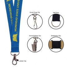 "AL601 - 3/4"" Polyester Lanyard with Lobster Clip"