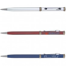 AS321 - Classic Slim Twist Action Ballpoint Pen w/ Ring Accent