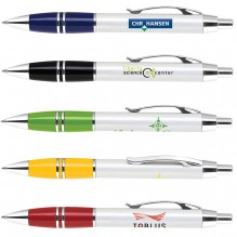 AS435 - Click Action Pen w/ Lacquer Coated Grip & Chrome Accents