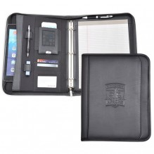 AS866 - Zippered Letter Size Padfolio w/3 Ring Binder