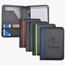 AS875 - Jr Sized Striped Padfolio