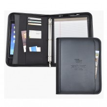 AS883 - Letter Size Zippered Pad Folio