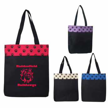 AJ636 - Paw Print Tote Bag
